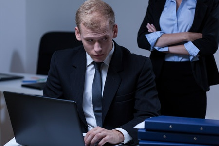 Image of working not doing his job as required - Accountability through Dashboards - Stopping Fraud